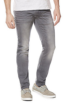F&F Light Wash Slim Leg Jeans - Grey
