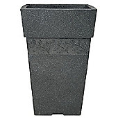 Stewart Garden Sylvan Tall Square Planter - 40cm - Granite (5024139)
