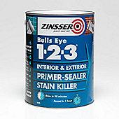 Zinsser Bulls Eye 1-2-3 - Primer-sealer - Stain Killer - 2.5 Litre