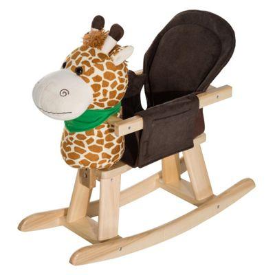 Homcom Animal Rocking Ride On Toy Chair For Kids (Giraffe)