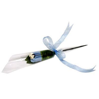 Flower Stork Flower Bud - Sock Rose - Baby Boy Blue