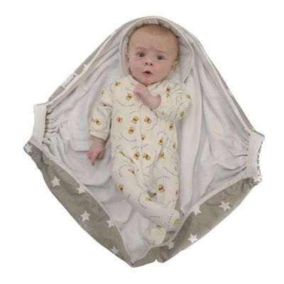 Snugglebundl, Baby Wrap/Carrier - Grey White Star