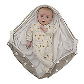 Snugglebundl, Baby Wrap/Carrier - Grey White Star