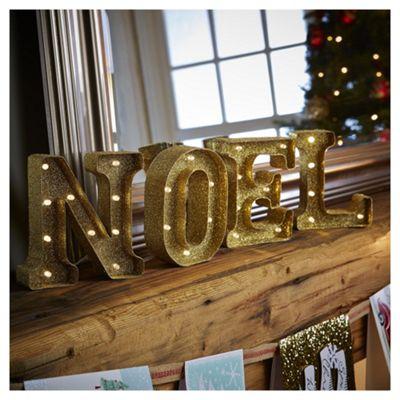 Light up NOEL sign (28 warm white LEDs)