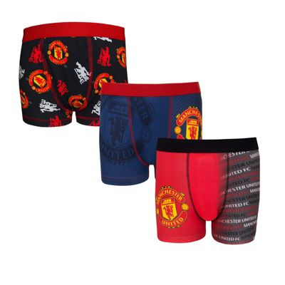 Manchester United FC Boys Boxer Shorts 3 Pack 5-6 Years