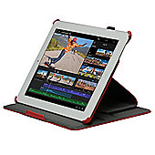 Navitech - Red tri - fold Stand Case For Apple iPad 2 3 & 4 Generation