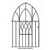 Wrought Iron Style Modern Bow Top Metal Garden Gate 91x134cm