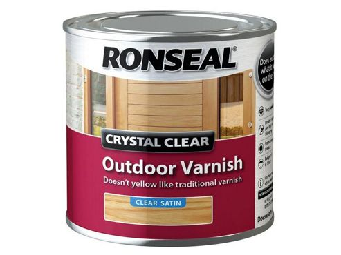 Ronseal CCODVS250 250 ml Crystal Outdoor Satin Finish Varnish - clear