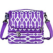 Dual Compartment Lunch Bags- Purple Wishbone