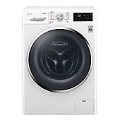 LG-F4J6VY2W Freestanding Washing Machine with 9KG Load Capacity and Steam Technology in White