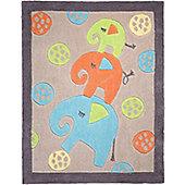 Elephant, Kids Rug - 80 x 100 cm