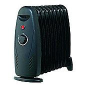 Kingavon BB-OR109 9-Fin Mini Oil Filled Radiator - Black