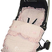 Broderie Anglaise Beautiful Filly Footmuff / Cosy Toes Pink