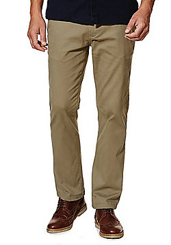F&F Stretch Straight Leg Chinos - Stone