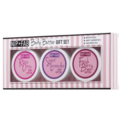 Nip+Fab Rose & Sweet Body Butter Gift Set