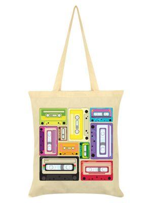 Cassettes Cream Tote Bag