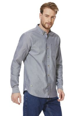 Regatta Bacchus Chambray Long Sleeve Shirt Grey S