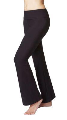 Women's Slimming Shaping Roll Top Yoga Bootcut Bottoms Short Length 29