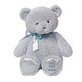 "18"" Gund My First Teddy Blue Large Soft Toy"