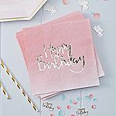Pick & Mix Happy Birthday Ombre Napkins - 3ply Paper