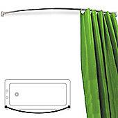 Arc - Curved Chrome Shower Curtain Rail - Silver