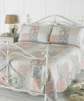 Country Club Embossed Bedspread Set Rosie Pink