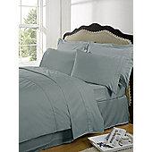 Dreamscene Highams 100% Egyptian Cotton Plain Dye Valance Sheet - Duck egg blue