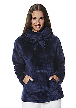 F&F Cowl Neck Cosy Lounge Top - Navy