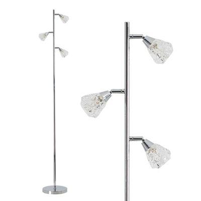 Astley 3 Way Floor Lamp - Chrome