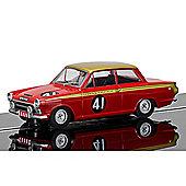SCALEXTRIC Slot Car C3870 Ford Cortina, Alan Mann Racing