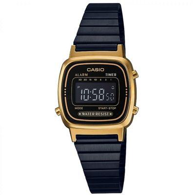 Casio Ladies' Gold Plated Case Bracelet Design Retro Shape Watch LA670WEGB-1BEF