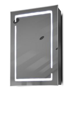 Demist Cabinet With LED Under Lighting, Sensor & Internal Shaver Socket k350w