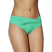 F&F Twist Front Fold-Over Bikini Briefs - Mint