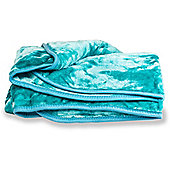 Faux Fur Teal Mink Throw Soft Warm Blanket 150 x 200cm
