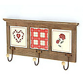 Hearts & Checks Triple Coat Hanger