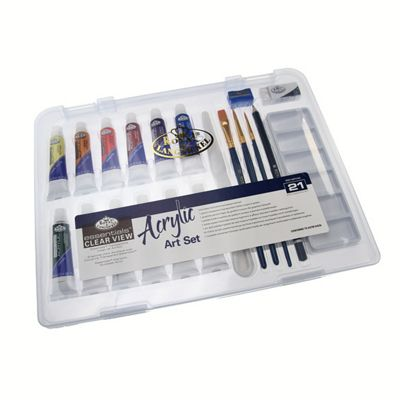 Royal Small Clear Case Art Sets - Acrylic