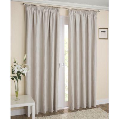 Enhanced Living Galaxy Cream Pencil Pleat Curtains - 46x54 Inches (117x137cm)