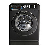 Indesit Innex Washing Machine, BWE 91484X K UK, 9kg, 1400rpm - Black