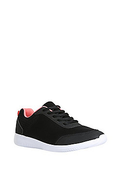 F&F Active Lace-Up Trainers - Black