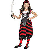 Gothic Pirate Girl - Child Costume 4-6 years