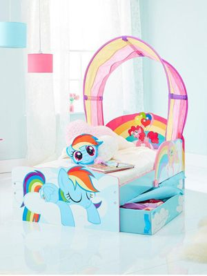 My Little Pony Toddler Bed With Storage Plus Foam Mattress