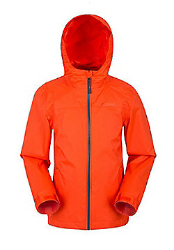 Mountain Warehouse Girls Jacket with Taped Seams and Waterproof Membrane - Orange