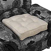 Homescapes Faux Suede Armchair Booster Cushion Latte Cream