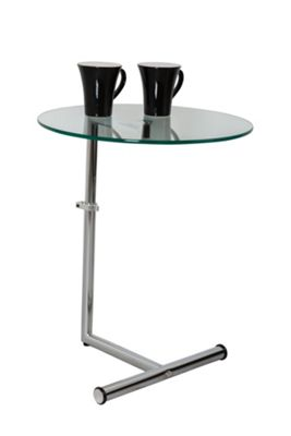 Zen Adjustable Glass Side Table - Clear