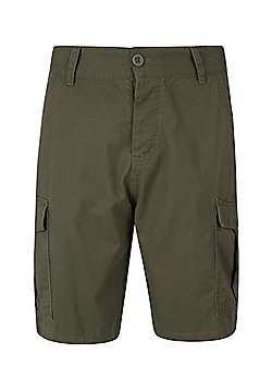 Mountain Warehouse Mens Casual Shorts 100% Twill Cotton with Multiple Pockets - Khaki