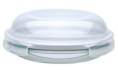 Lock & Lock Boroseal Heat-Resistant Container with 4 side locking polypropylene lid - 9 cm H x 24 cm W x 24 cm D