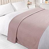 Wholesale 10 x Plain Fleece Blanket Soft Warm Sofa Throw Over 120 x 150cm Joblot - Heather