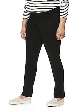 Junarose Stretch Plus Size Trousers - Black