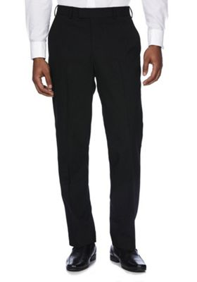 F&F Regular Fit Tuxedo Trousers 44 Waist 33 Leg Black