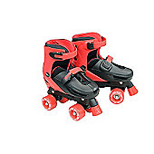 Zinc Adjustable Quad Skates - Black - Size 3-5